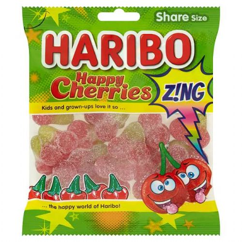 HARIBO Happy Cherries Z!ng Share Size Bag (UK)